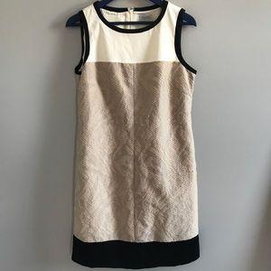 Tahari textured Shift Dress